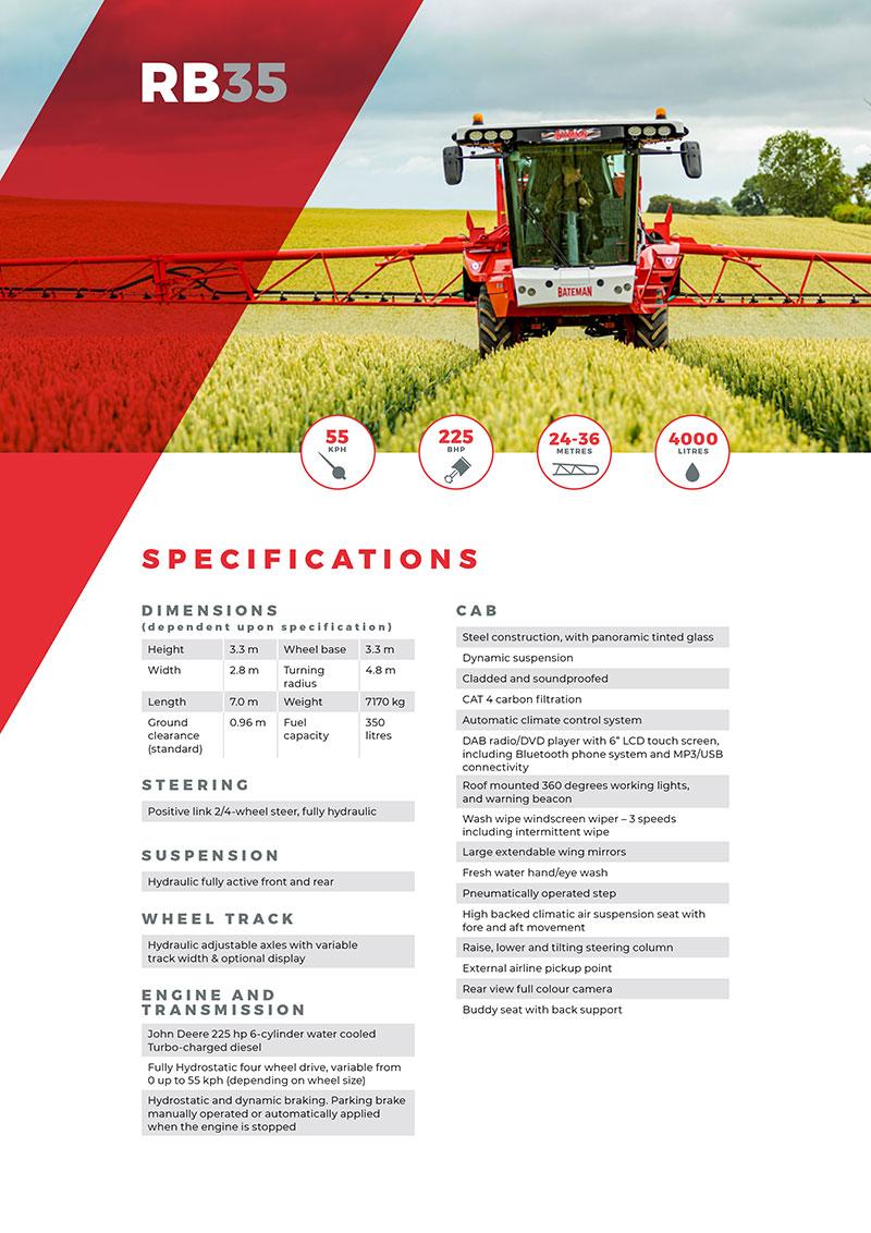 RB35 Spec Sheet