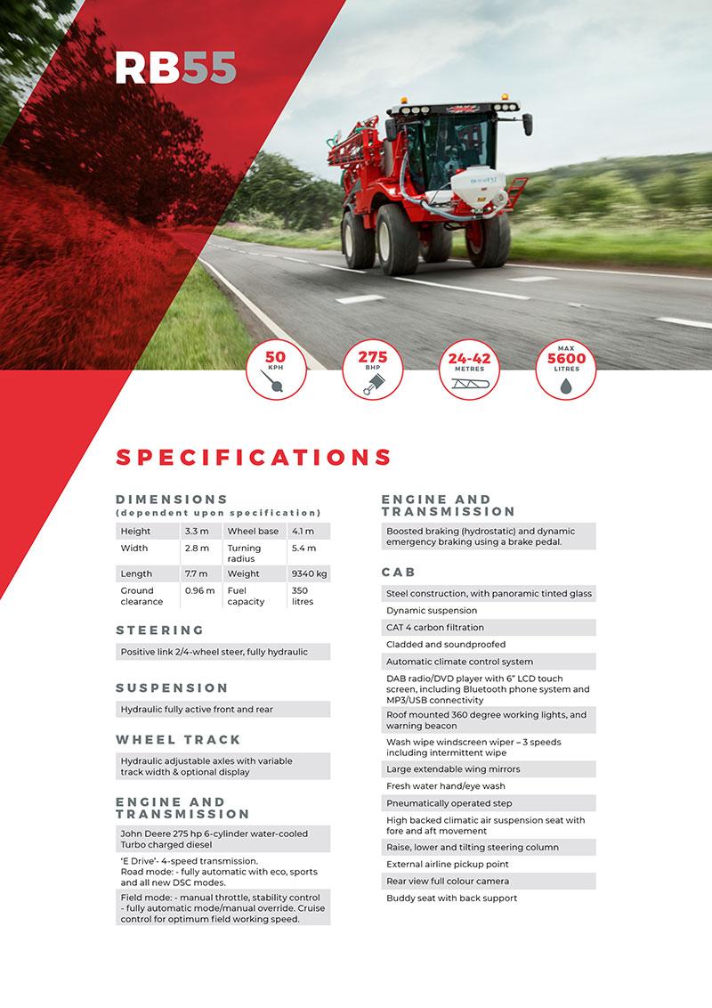 RB55 Spec Sheet